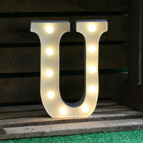 Metal U LED Letter Light