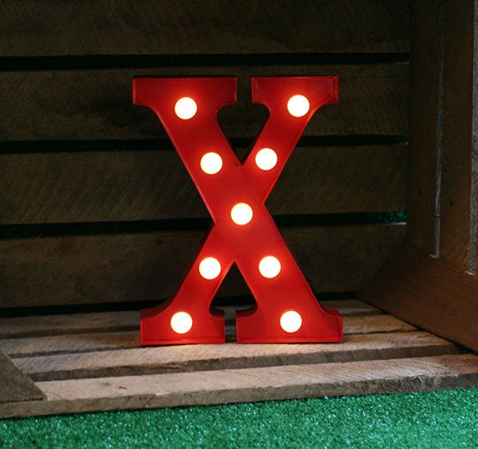 Metal X LED Letter Light