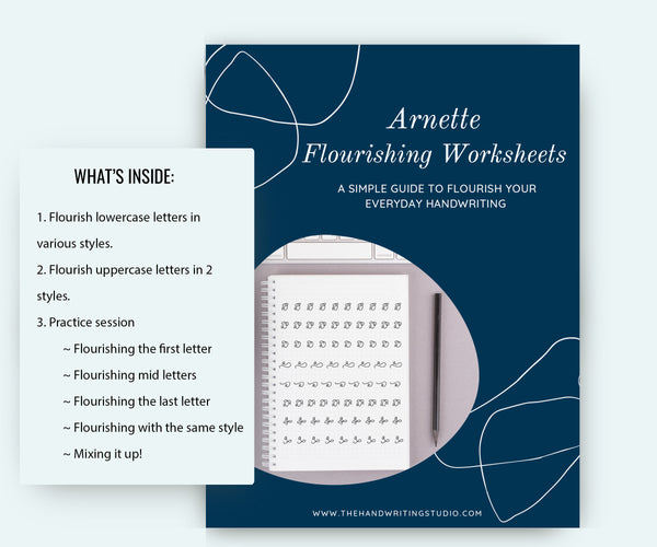 Arnette flourishing monoline worksheets