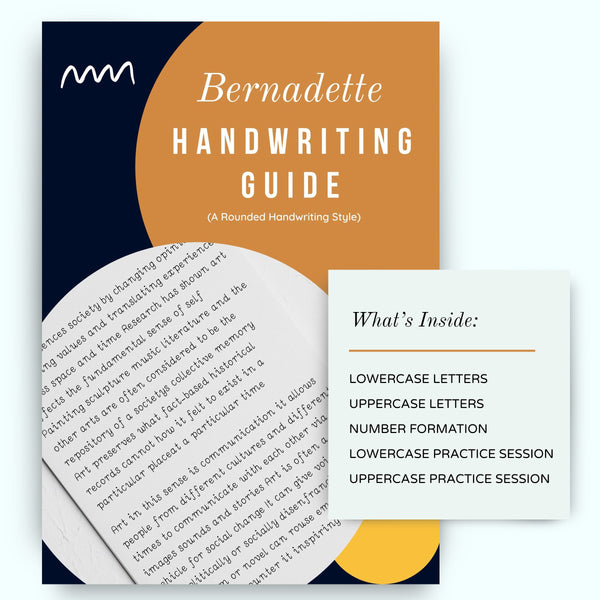 BERNADETTE handwriting worksheets