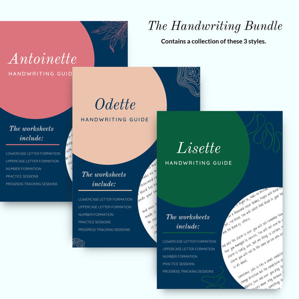 THE HANDWRITING BUNDLE (Antoinette, Lisette, & Odette)