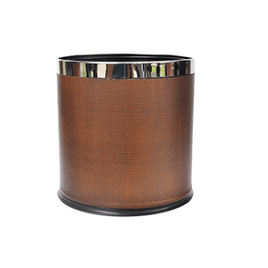 Brown Oval Trash Bin - Eco Prima Home and Commercial Kitchen Supply