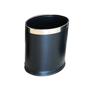 Black Oval Trash Bin - Eco Prima Home and Commercial Kitchen Supply