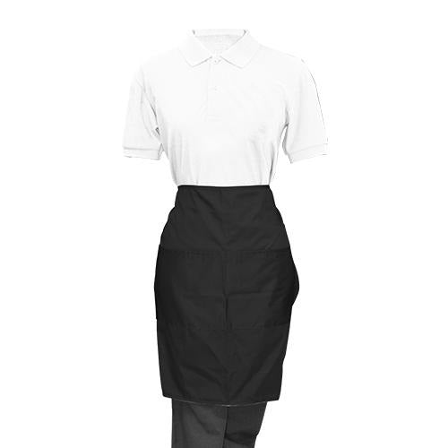 Black Half Apron - Eco Prima Home and Commercial Kitchen Supply