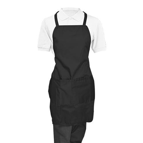 Black Whole Apron - Eco Prima Home and Commercial Kitchen Supply