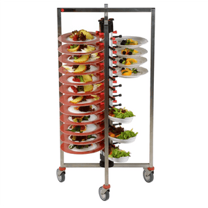 48-Plate Mobile Jackstack Trolley - Eco Prima Home and Commercial Kitchen Supply