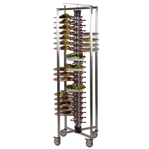 84-Plate Mobile Jackstack Trolley - Eco Prima Home and Commercial Kitchen Supply
