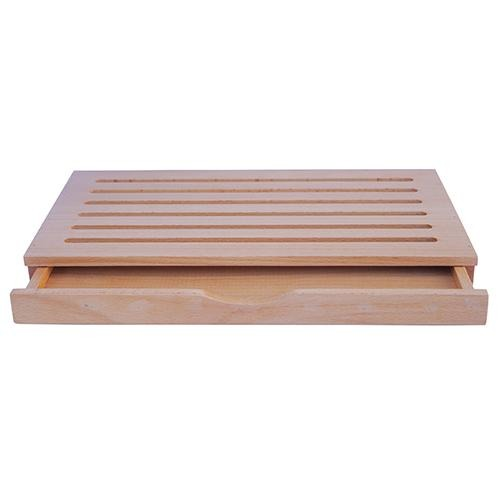Oak Bread Cutting Board with Crumb Tray - Eco Prima Home and Commercial Kitchen Supply