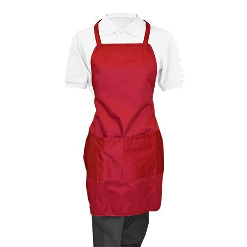Maroon Whole Apron - Eco Prima Home and Commercial Kitchen Supply