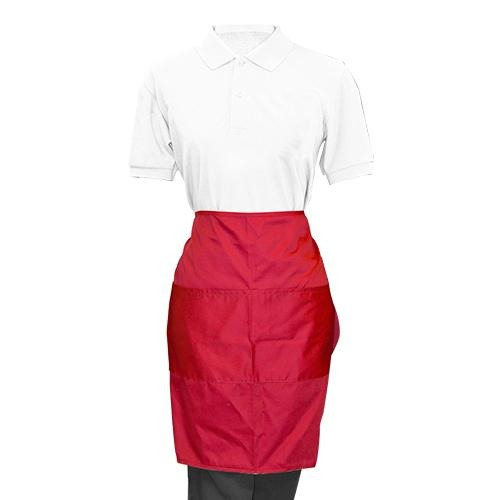 Maroon Half Apron - Eco Prima Home and Commercial Kitchen Supply
