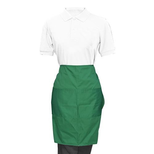 Green Half Apron - Eco Prima Home and Commercial Kitchen Supply