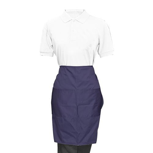 Blue Half Apron - Eco Prima Home and Commercial Kitchen Supply