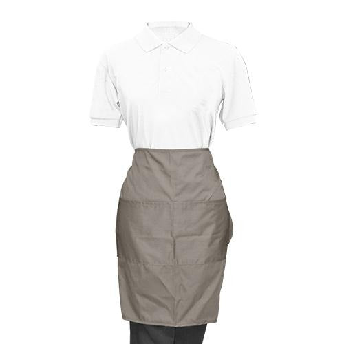 Gray Half Apron - Eco Prima Home and Commercial Kitchen Supply