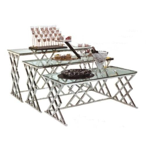 Crisscross Buffet Table - Eco Prima Home and Commercial Kitchen Supply