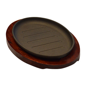 Oval Cast Iron Sizzling Plate