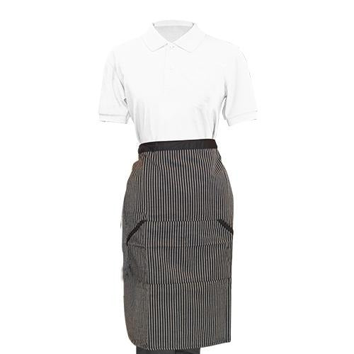 Striped Half Apron - Eco Prima Home and Commercial Kitchen Supply