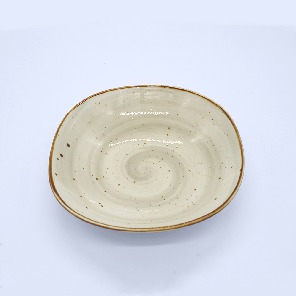 Cream Marble Coupe Plate