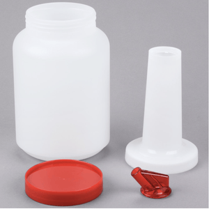 2L Pour Bottle with Red Spout and Cap - Eco Prima Home and Commercial Kitchen Supply