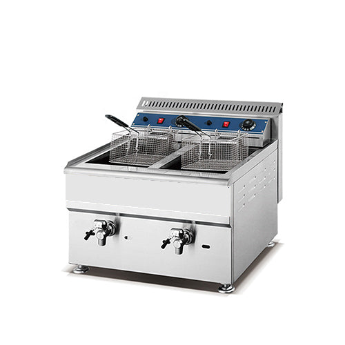 18L + 18L Double Tank, Double Basket Gas Fryer