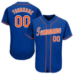 Custom Royal Orange-White Baseball Jersey