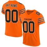 Custom Orange Brown-White Mesh Authentic Football Jersey