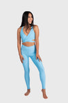Aura 7 Activewear Fresh Air Capella legging yoga pants front