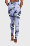Aura 7 Activewear Tropic Capella legging yoga pants close up back view
