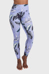 Aura 7 Activewear Tropic Capella legging yoga pants close up front view