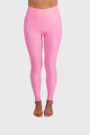 Aura 7 Activewear Flower Vita Legging yoga pants close up front view