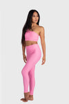 Aura 7 Activewear Flower Hermosa Top front pose view