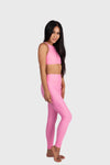 Aura 7 Activewear Flower Vita Legging yoga pants side profile