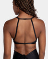 Aura7 Activewear Del Mar sports bra close up back profile with straps
