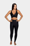 Aura7 Activewear crisscross malibu sports bra front profile