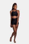 Aura7 Activewear high waisted rigel short front profile