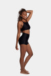 Aura7 Activewear high waisted rigel short side profile full