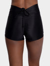 Aura7 Activewear high waisted rigel short back profile close up