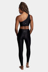 Aura7 Activewear Vita legging yoga pants back profile