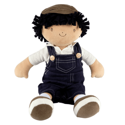 Soft boy doll in dungarees UK