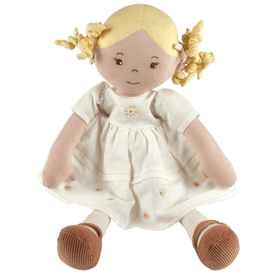 Linen soft doll toy UK shop - Vicky