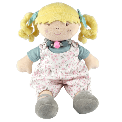 Soft doll toy with friendship bracelet