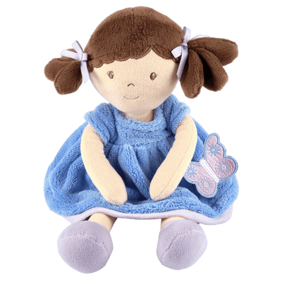 Soft Doll with blue dress and butterfly UK
