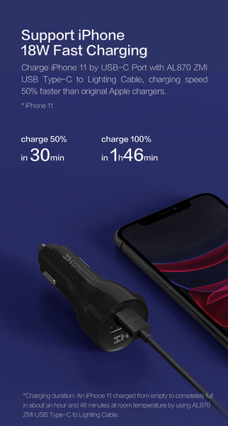 Xiaomi ZMI 45W Dual USB Car Charger
