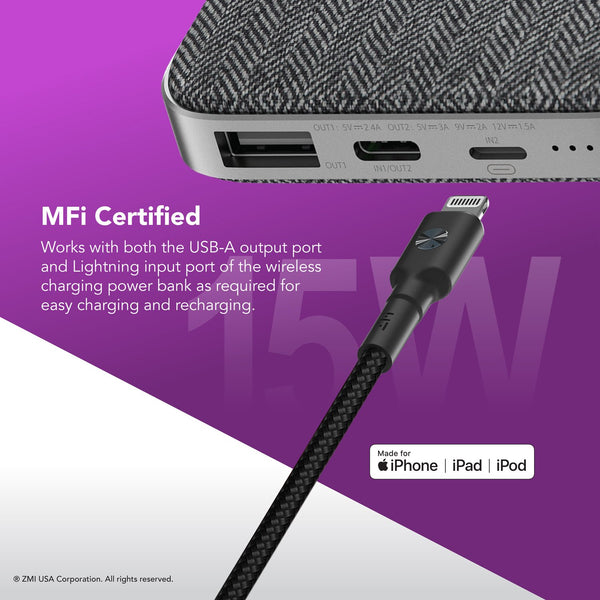 Xiaomi ZMI PowerPack 10000mAh Mfi Certified Lightning Power Bank