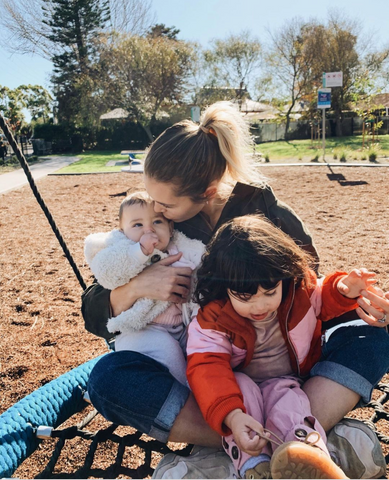 Phoebe with Valentina and Siddy