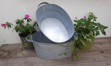 Load image into Gallery viewer, Vintage Oval Galvanised Zinc Metal Plant Pot