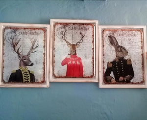 Stag and Hare Anthropomorphic Style Pictures