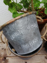 Load image into Gallery viewer, Galvanised Zinc Metal Plant Pots