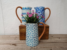 Load image into Gallery viewer, Blue Painted Jugs
