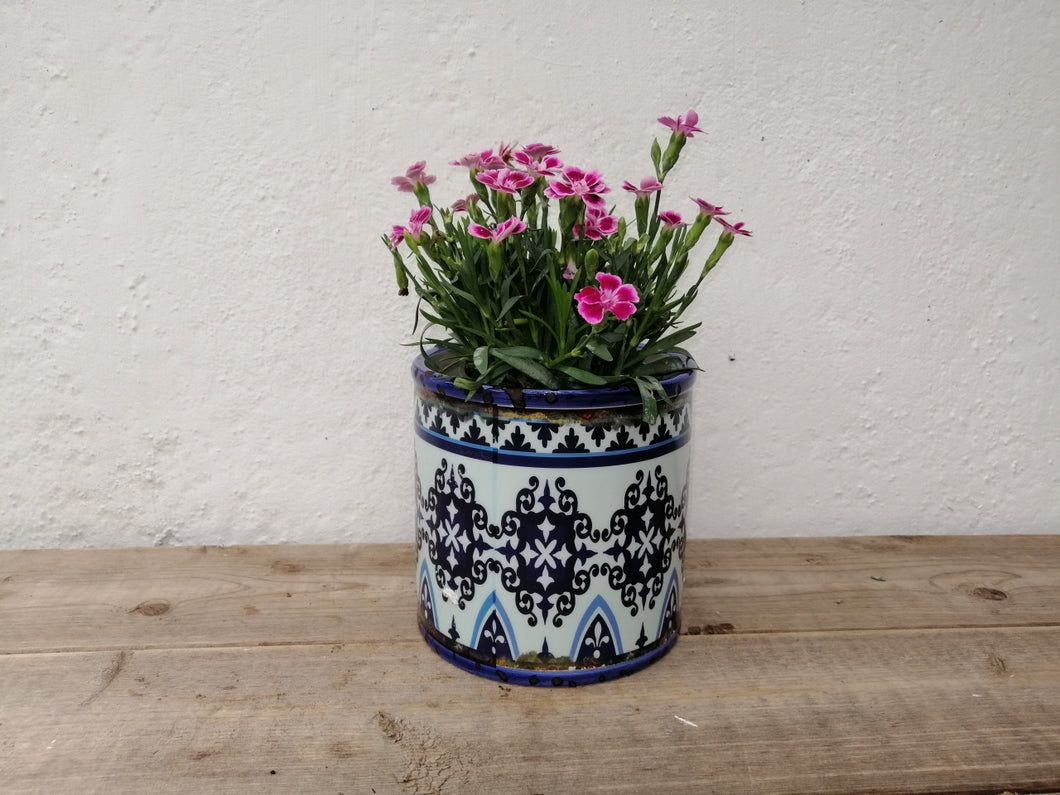 Distressed Blue Plant Pots