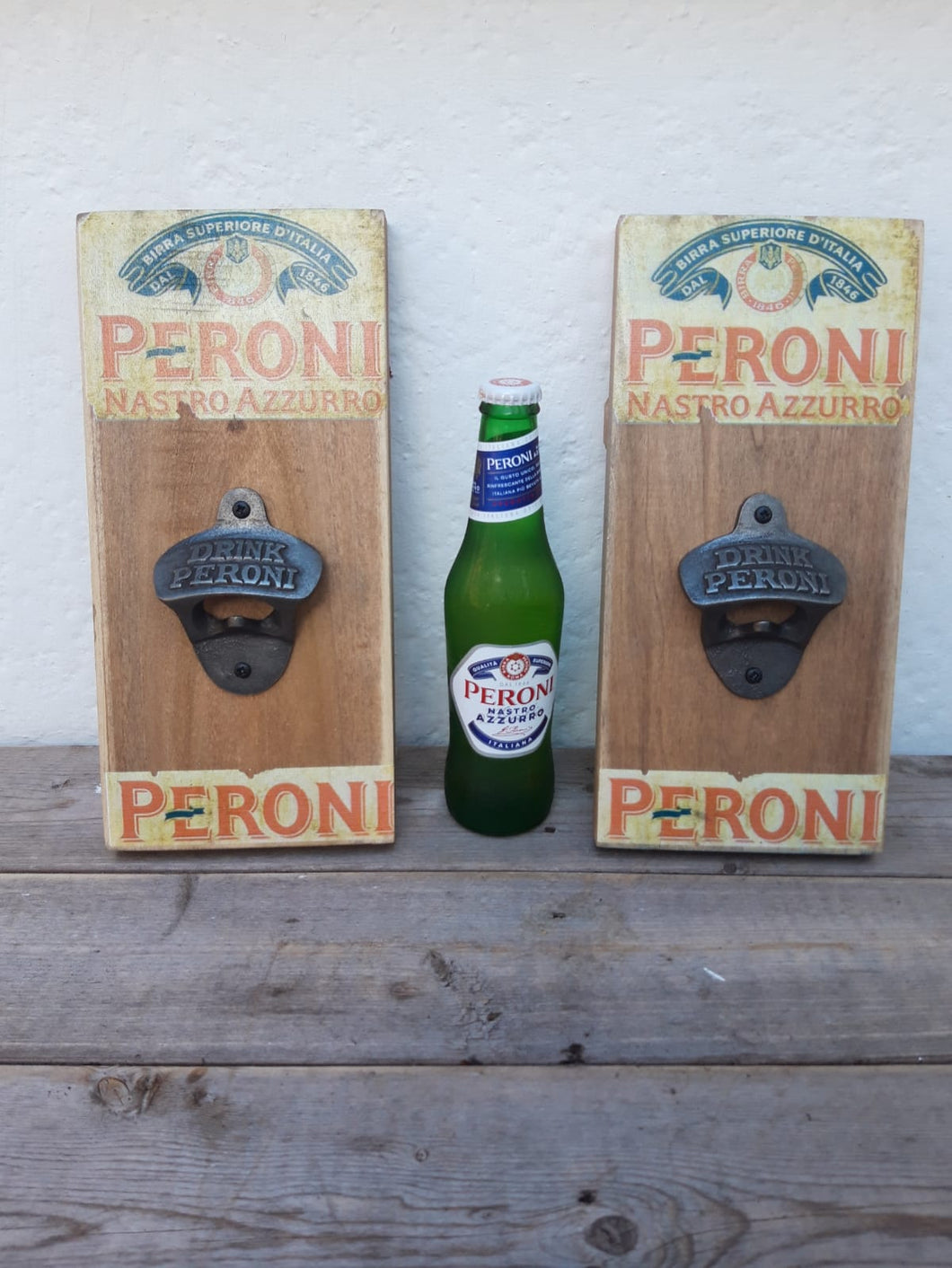 Peroni Plaque Bottle Opener